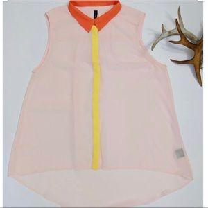 Light pink sheer blouse W118 by Walter baker